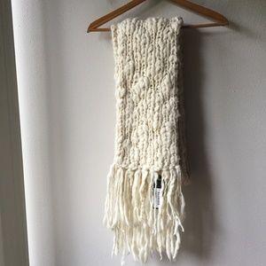 Club Monaco Chunky Handknit Wool Scarf